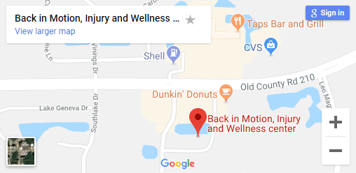 Map of St Johns Chiropractors
