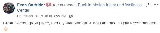 Back in Motion Injury and Wellness Center Patient Testimonial