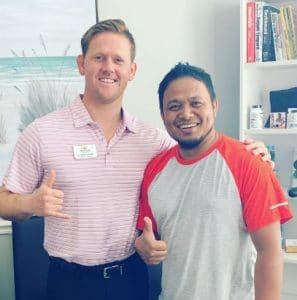 Chiropractor Colby Caltirder and Happy Patient